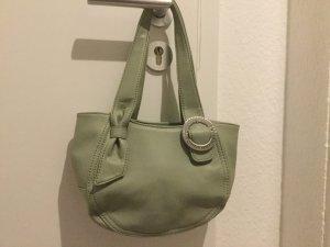 Hübsche mintgrüne Tommy Hilfiger Handtasche mit Strassapplikation