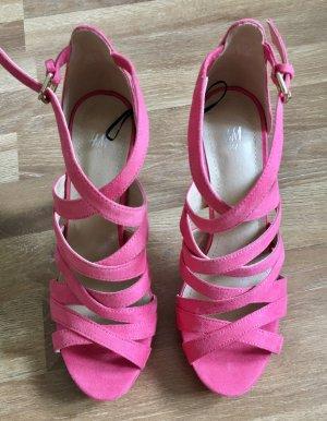 Hübsche nagelneue schuhe von h&m slippers sandalen highheels peeptoes gr. 37