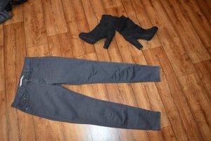 Bershka Tube jeans antraciet