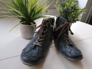 Rieker High Top Sneaker slate-gray-pale blue
