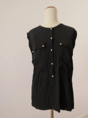 Hübsche schwarze Bluse von Mango mit Knöpfen