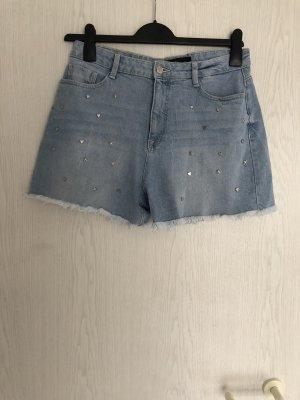 C&A Denim Shorts silver-colored-blue
