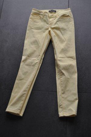 Arizona Pantalón de cinco bolsillos amarillo pálido Algodón