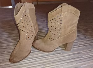Tamaris Western Booties sand brown