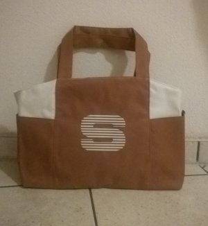 Sisley Canvas Bag light brown-white