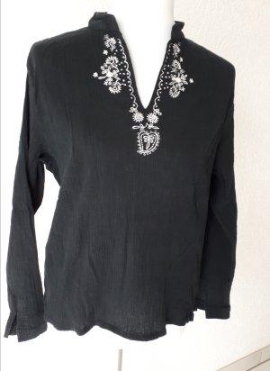 Canda Blusa de túnica blanco-negro