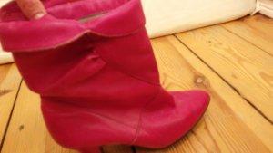 Botines rosa-magenta
