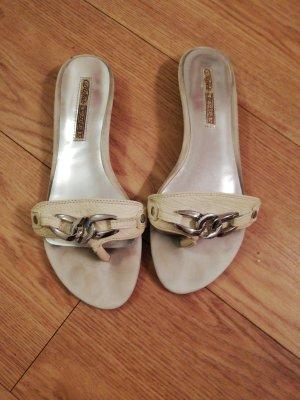 Buffalo London Heel Pantolettes white-silver-colored