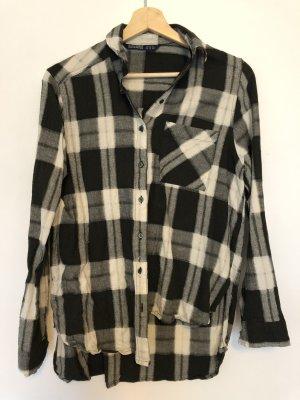 Zara Basic Houthakkershemd wit-donkergroen