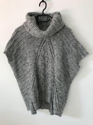 Hübscher, grauer Woll-Pullover mit halben Ärmeln in Größe XS, ideal für Herbst und Winter
