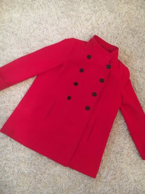 Hübscher kurzer Mantel in einem tollen Rot - wintersale!