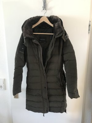 Zara Basic Down Coat multicolored