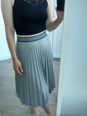 Atmosphere Pleated Skirt grey-dark blue mixture fibre