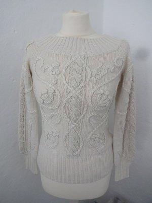 Mango Maglione di lana bianco sporco
