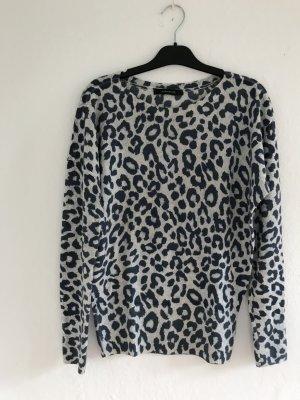Hübscher Pullover in Leoprint von For Friends Only in grau Gr.38/40 LETZTE REDUZIERUNG !!!