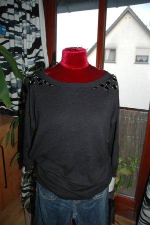 Hübscher Pullover mit Glitzersteinen GR L