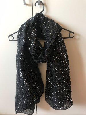 Hübscher Schal mit silber metallic Tupfen