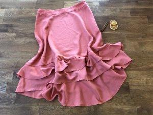 Mint&berry Falda de talle alto albaricoque-salmón