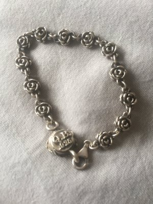 Brazalete de plata color plata