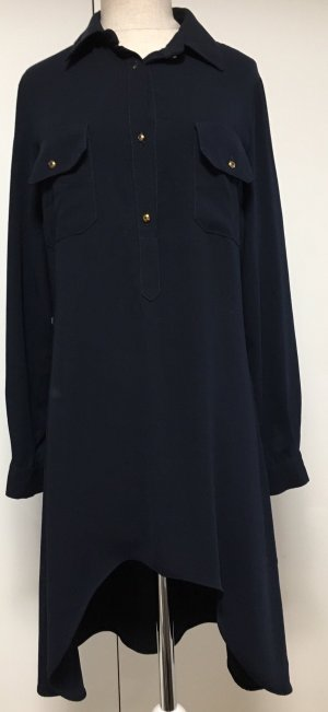 Blusa larga azul oscuro