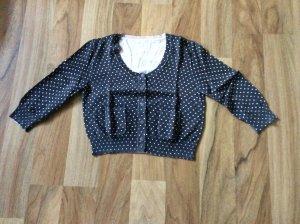 Knitted Vest black brown-pink