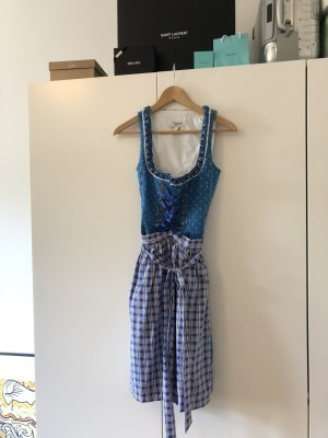 Country Life Dirndl blauw-wit