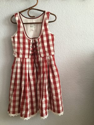 MarJo Dirndl bordeaux-wit