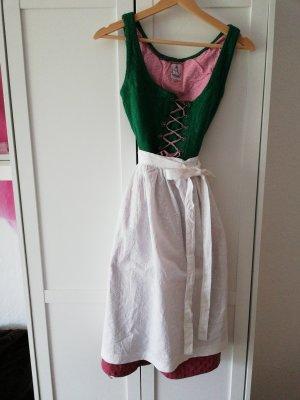 Tostmann Vestido Dirndl rosa-verde