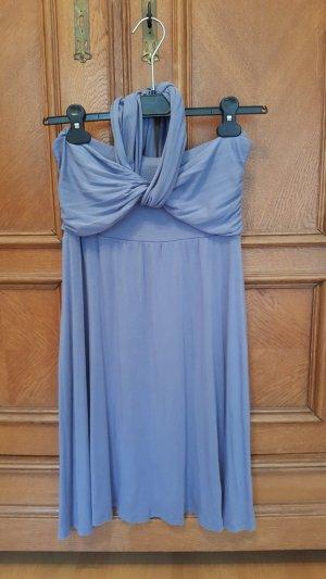 Hübsches grau-blaues Neckholder-Sommerkleid, Größe 36, Lascana