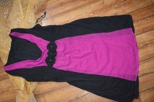Hübsches Kleid Gr. M pink schwarz strechig