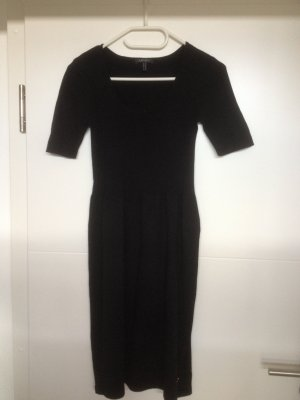 Apart Knitted Dress black cotton