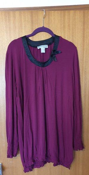 Hübsches Langarmshirt Shirt mit Schleife und Rüschchen Pink 48/50