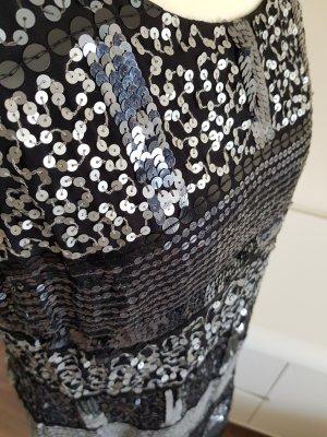 Robe à paillettes noir-argenté