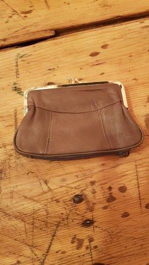 Portefeuille gris brun-doré faux cuir