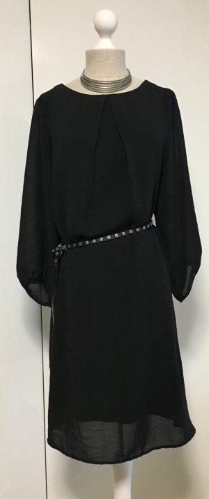 Hübsches schwarzes Chiffon Kleid