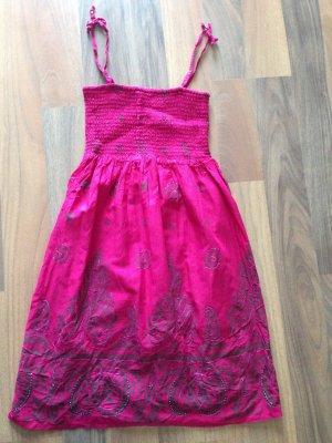 Hübsches Sommerkleid mit Perlen in pink Größe S