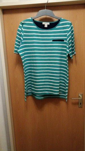 Sheego Gestreept shirt groen-wit Katoen