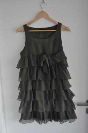 Vero Moda Vestido estilo flounce verde oliva-caqui Poliéster