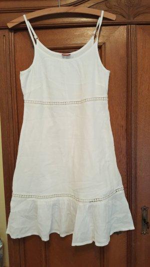 Hübsches weißes Sommerkleid mit Verzierung, Größe 36, Buffalo London, neu