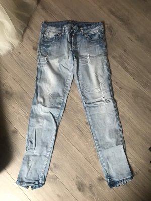 Low Rise jeans azuur