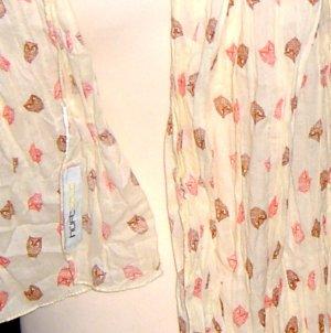 Hüftgold Crinkle Cotton Eulen Schal