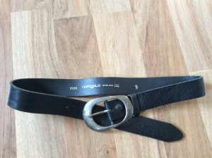 Hüftgold Leather Belt black