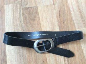 Hüftgold Cinturón de cuero negro