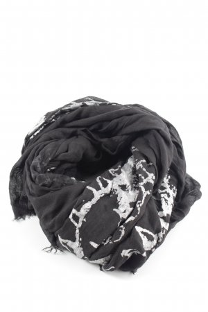 Hüftgold Neckerchief black-silver-colored abstract pattern casual look
