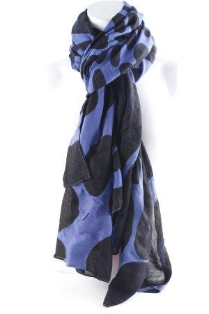 Hüftgold Halsdoek zwart-blauw kleurvlekken patroon casual uitstraling