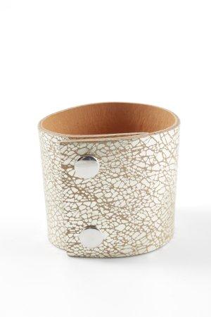 Hüftgold Leather Bracelet natural white-white allover print extravagant style