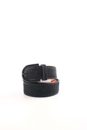 Hüftgold Cintura di pelle nero-color carne stile casual