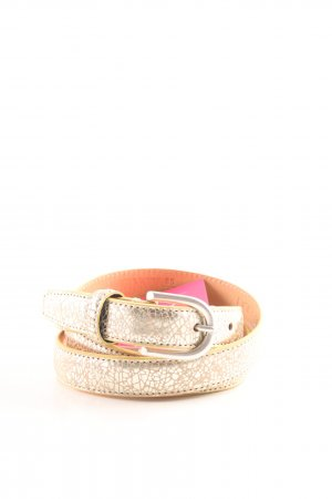 Hüftgold Leather Belt gold-colored-nude casual look