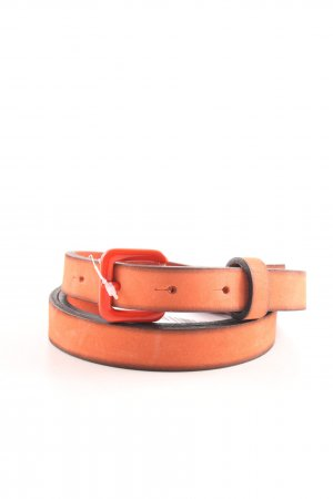 Hüftgold Cintura di pelle arancione chiaro stile casual