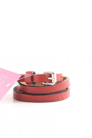 Hüftgold Leather Belt red-black casual look